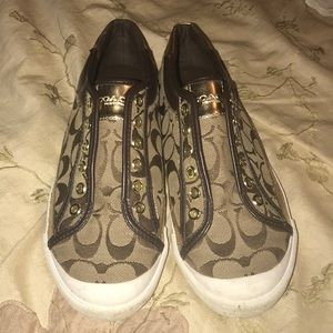 Ladies Coach No lace sneakers. Size 8. Worn once